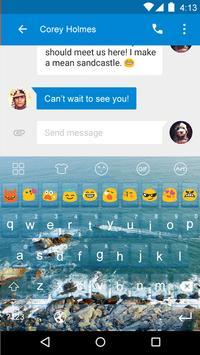 Emoji Keyboard-Ocean apk screenshot