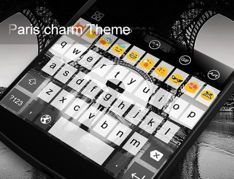 Emoji Keyboard-Paris Charm apk screenshot
