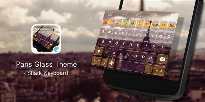 Emoji Keyboard-Paris Glass poster