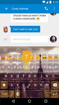 Emoji Keyboard-Paris Glass apk screenshot