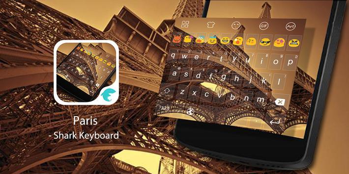 Emoji Keyboard-Paris Twilight poster