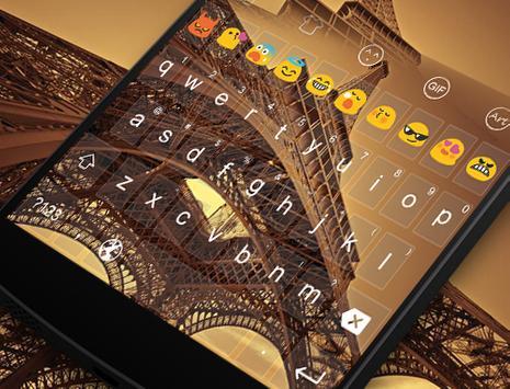 Emoji Keyboard-Paris Twilight apk screenshot