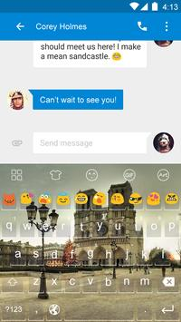 Emoji Keyboard-Paris apk screenshot