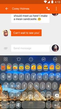 Emoji Keyboard-Paris Photo apk screenshot