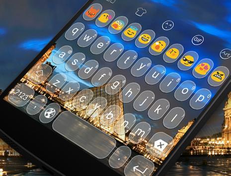 Emoji Keyboard-Paris Photo apk screenshot