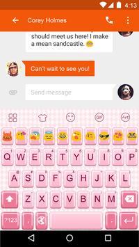 Emoji Keyboard-Pink Complex apk screenshot