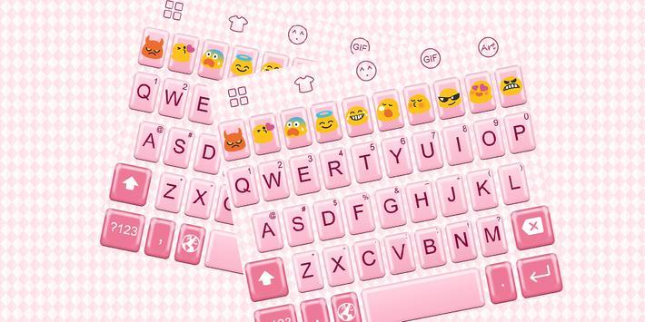 Emoji Keyboard-Pink Complex poster