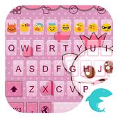 Emoji Keyboard-Pink Bow icon