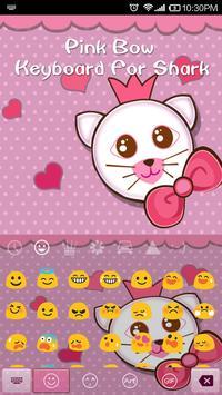 Emoji Keyboard-Pink Bow apk screenshot
