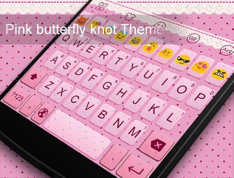 Emoji Keyboard-Pink Knot apk screenshot