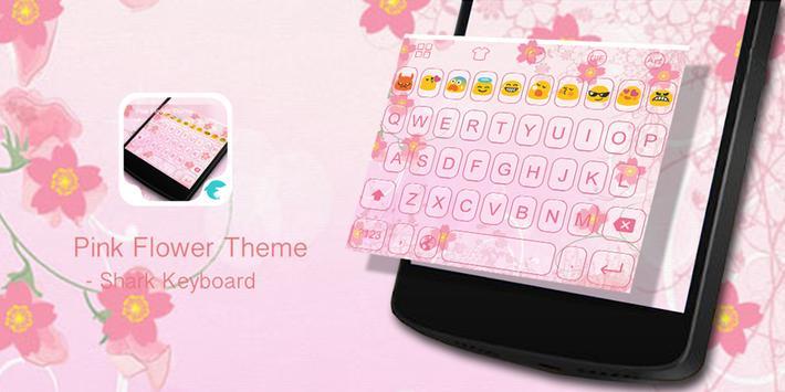 Emoji Keyboard-Pink Flower apk screenshot