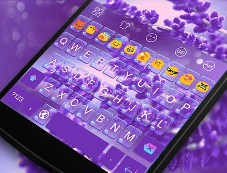 Purple Fantasy-Emoji Keyboard apk screenshot