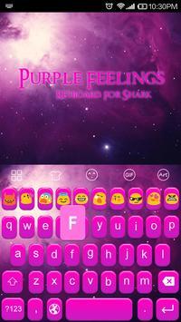 Emoji Keyboard-Purple Feelings apk screenshot