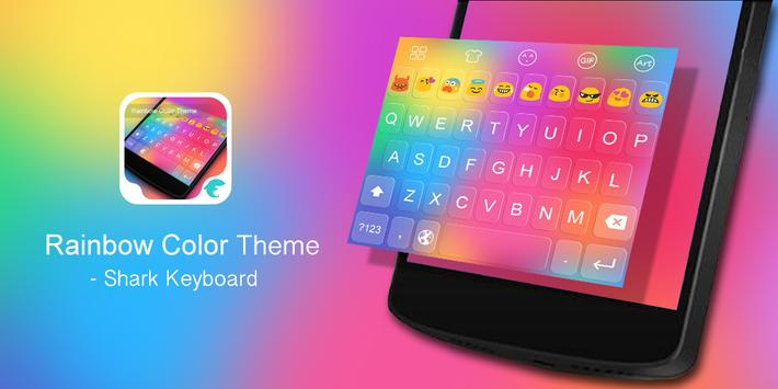 Emoji Keyboard-Rainbow Color poster