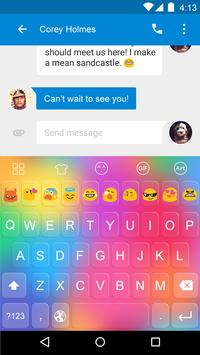 Emoji Keyboard-Rainbow Color apk screenshot
