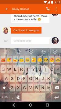 Emoji Keyboard-Rain Glass apk screenshot