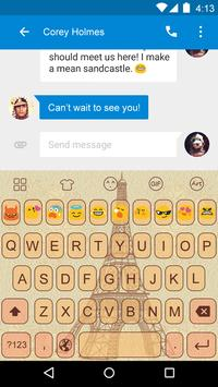 Emoji Keyboard-Retro Paris apk screenshot