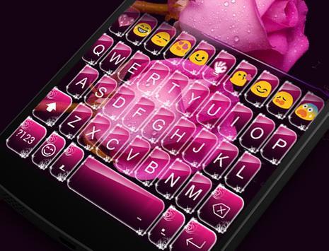 Rose Love Emoji Keyboard apk screenshot