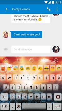 Emoji Keyboard-Sun screenshot 3