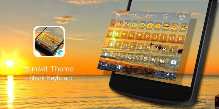 Emoji Kyeboard-Sunset poster