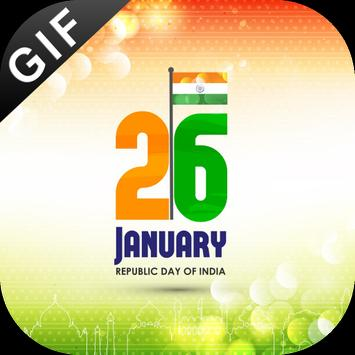 26 January GIF 2018 : Republic Day GIF Collection poster
