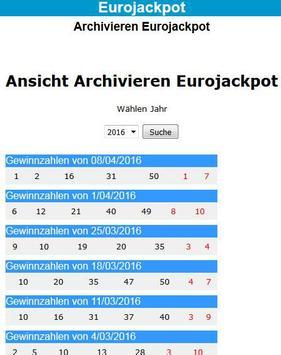 Eurojackpot für Deutschland screenshot 1