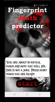 Fingerprint Death Predictor Prank poster