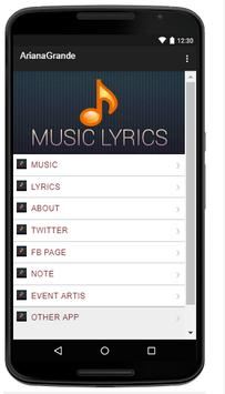 Ariana Grande Music Lyrics poster