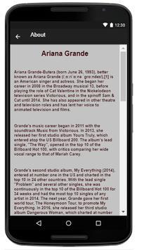 Ariana Grande Music Lyrics screenshot 1
