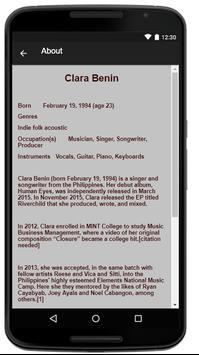 Clara Benin Music Lyrics screenshot 1