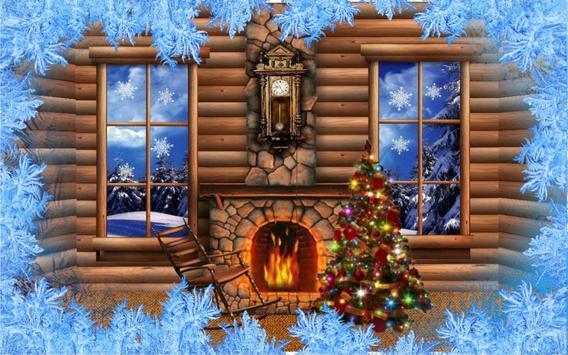 Christmas Fireplace Live Wallpaper Apk Screenshot