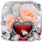 Diamonds Valentines Day live wallpaper icon