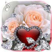 Diamonds Valentines Day live wallpaper icon