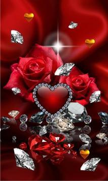 Diamonds Valentines Day live wallpaper poster