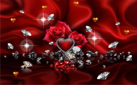 Diamonds Valentines Day live wallpaper screenshot 11