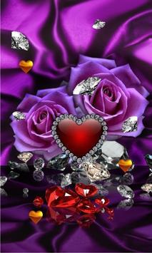 Diamonds Valentines Day live wallpaper screenshot 1