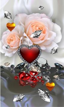 Diamonds Valentines Day live wallpaper screenshot 2