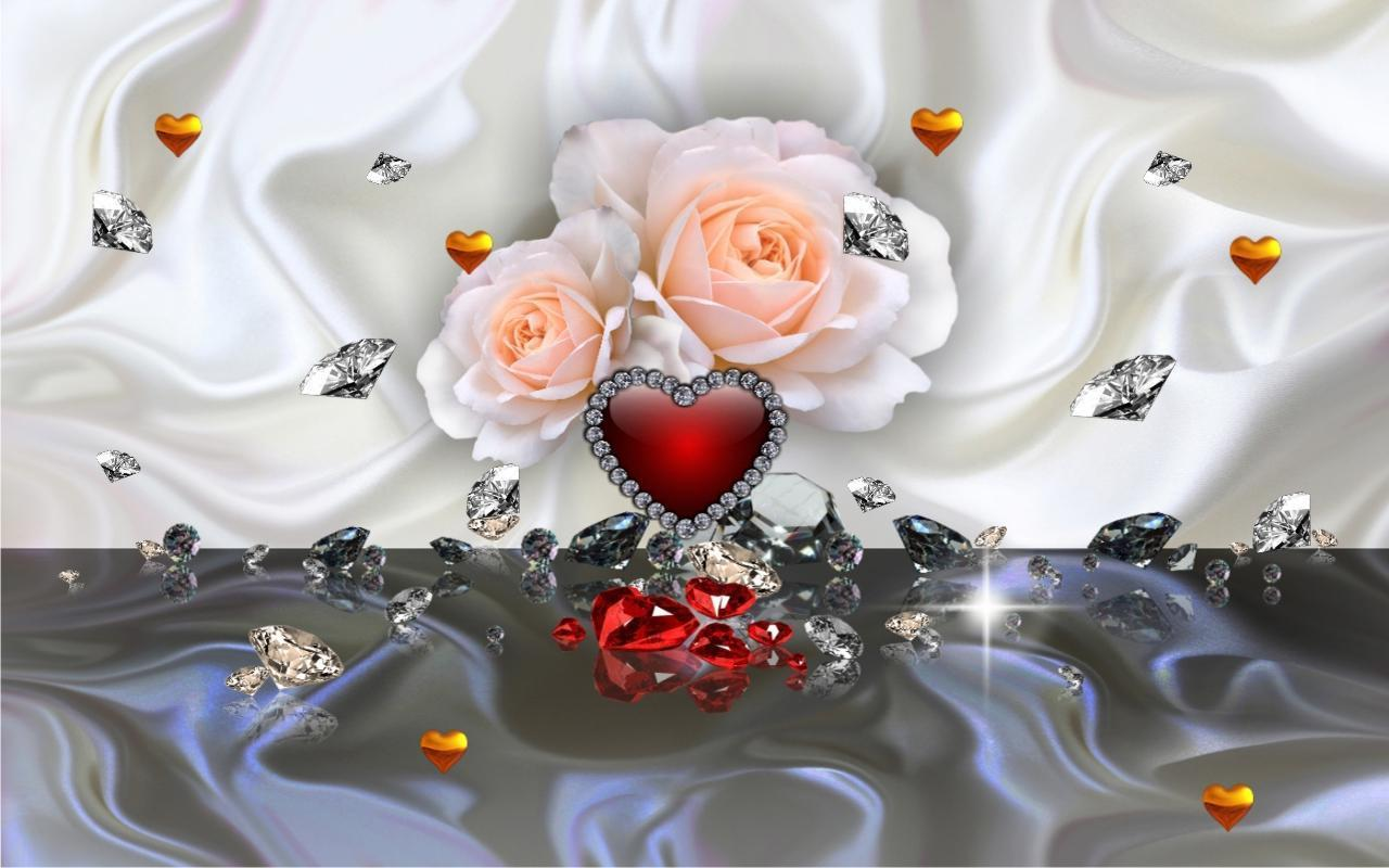 Diamantes San Valentín Fondos Pantalla Animados For