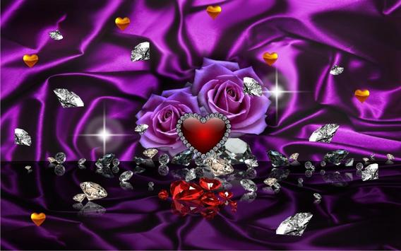 Diamonds Valentines Day live wallpaper screenshot 5
