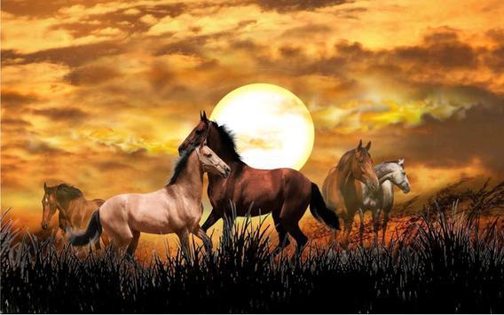 Horses Wild Sunset Live Wallpaper Screenshot 3