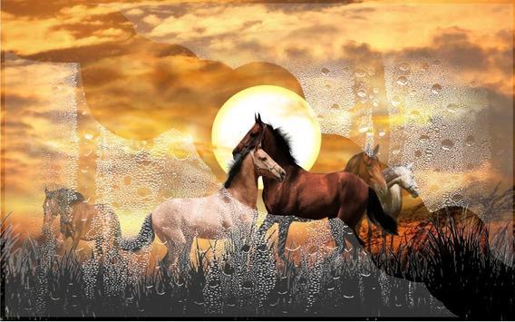 Horses Wild Sunset Live Wallpaper Screenshot 4