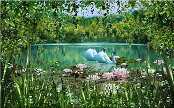 Swans and Lilies LWP screenshot 7