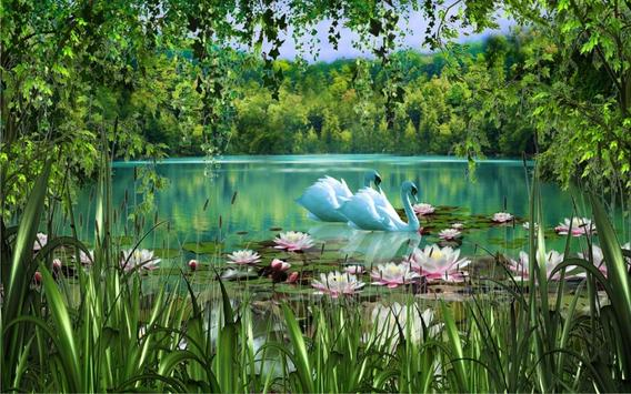 Swans and Lilies LWP screenshot 3