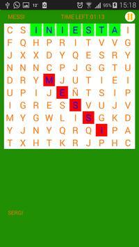 Soccer games: Wordsearch apk screenshot