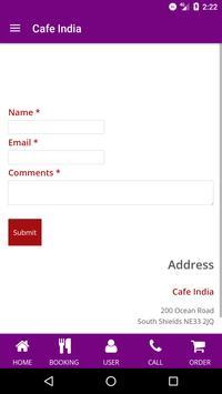 Cafe India apk screenshot