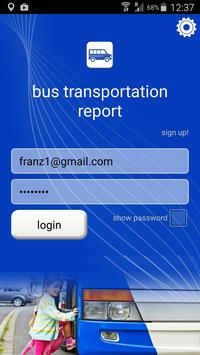 Bus Transportation Report poster