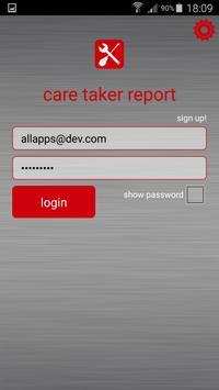Caretaker Report poster