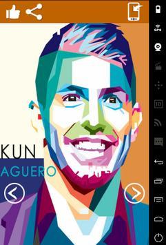 Sergio Aguero Art Wallpaper HD poster