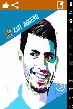 Sergio Aguero Art Wallpaper HD screenshot 2