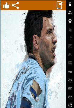 Sergio Aguero Art Wallpaper HD screenshot 4